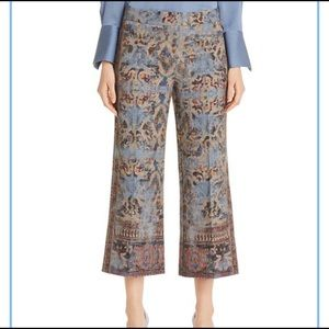 KOBI HALPERIN Mirielle Tapestry-Print Cropped Pant